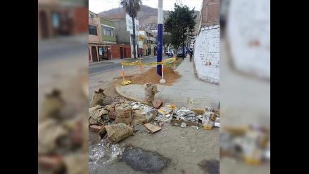 WhatsApp: desmonte restringe paso de peatones en Chorrillos