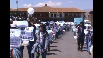 Ministro de Justicia encabezó marcha contra maltrato infantil en Cusco