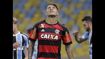 Paolo Guerrero no estará en el duelo entre Flamengo y Cruzeiro