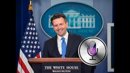 YouTube: Siri interrumpe conferencia de prensa en la Casa Blanca