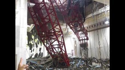 Al menos 87 muertos al caer una grúa en la mezquita de La Meca