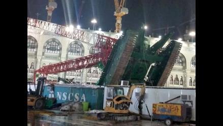 Suben a 107 los muertos tras caerse una grúa en La Meca