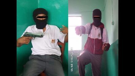 Lambayeque: Piden a directora explicar foto de alumnos con arma de fuego