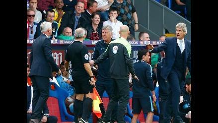 Manchester City vs. Crystal Palace: Pellegrini y Pardew casi se agarran a golpes