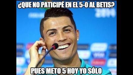 Real Madrid: Cristiano Ronaldo es blanco de memes por su repóker al Espanyol