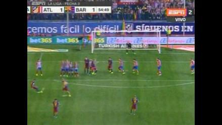 Atlético Madrid vs. Barcelona: Neymar silenció el Vicente Calderón con tiro libre