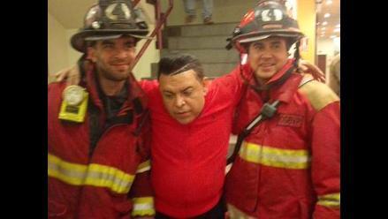 El Gran Show: Andrés Hurtado tuvo que ser atendido por bomberos