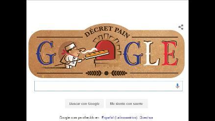 Google celebra al baguette con un doodle horneado