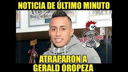 Christian Cueva es víctima de memes tras captura de Gerald Oropeza