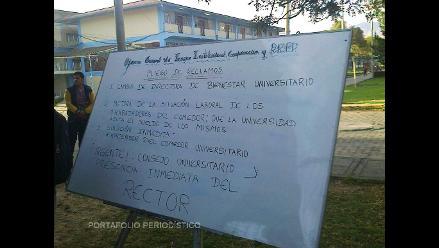 Cajamarca: usuarios de comedor U.N.C tomaron campus universitario