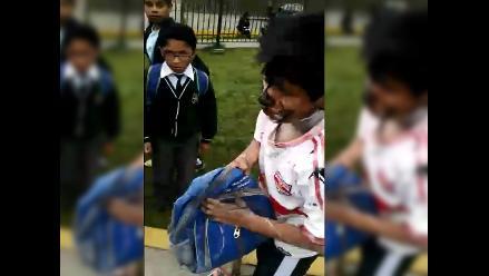 WhatsApp: niño sufre bullying en colegio de San Luis (video)