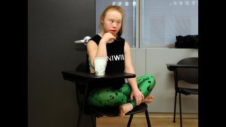 Modelo con síndrome de Down conquistó pasarela de Nueva York