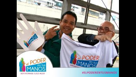 Chema Salcedo y Héctor Felipe celebran la democracia en el Metropolitano