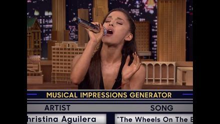 Ariana Grande imitó a Christina Aguilera a la perfección