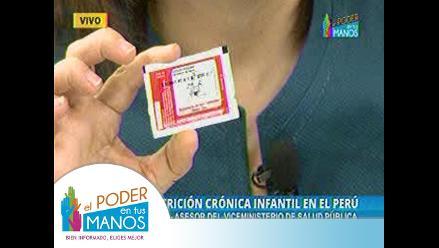 Anemia: niños peruanos acceden gratis a micronutrientes