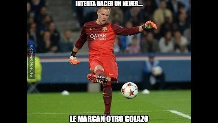 Champions League: memes se burlan de Ter Stegen y el gol que le hizo Florenzi