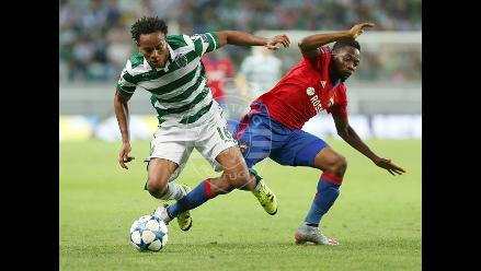 André Carrillo confirmado en once de Sporting Lisboa ante Lokomotiv