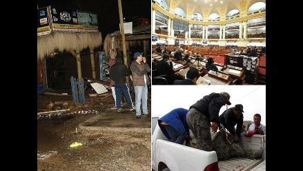 Resumen: Terremoto de 8.4 grados en Chile deja cinco muertos, aprueban informe final de la comisión Belaunde Lossio y queman vivos a dos presuntos asesinos en Huánuco