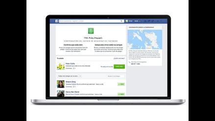 Usuarios utilizan herramienta de Facebook para avisar que están a salvo tras terremoto