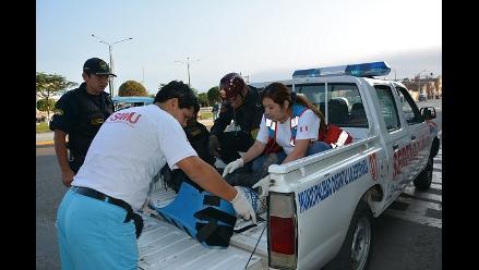 Trujillo: Atropellan a tres policías en La Esperanza