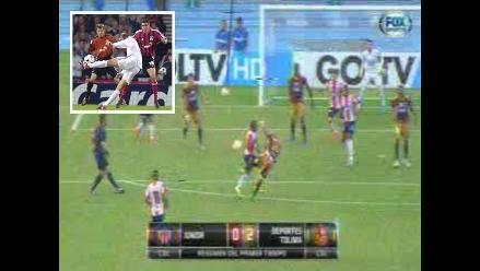 Copa Sudamericana: Jonathan Estrada emuló con un golazo a Zinedine Zidane