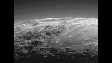 La NASA comparte una foto de la puesta de sol en Plutón