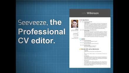 Editor de currículum muestra cómo va quedando el diseño en tiempo real
