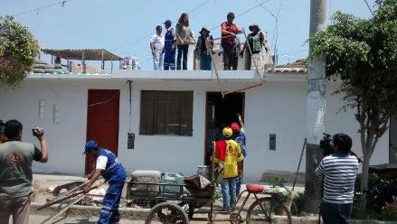 Inician campaña de limpieza en techos de Chimbote