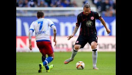 Eintracht Frankfurt empató 0-0 con Hamburgo sin Carlos Zambrano