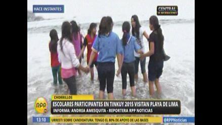 Escolares de comunidades nativas vieron el mar por primera vez