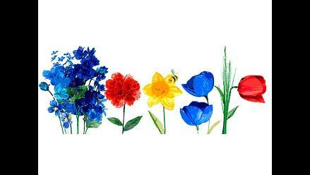 Google celebra llegada de la primavera con doodle