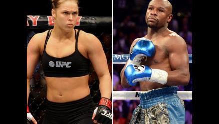 YouTube: Floyd Mayweather y Ronda Rousey por fin pelearon en el ring