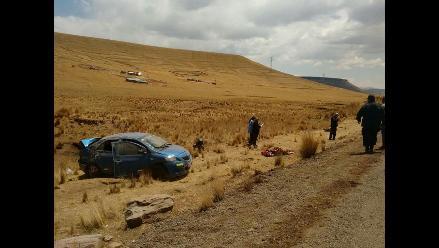 Puno: teniente gobernadora de Wiluyo falleció tras despiste de vehículo