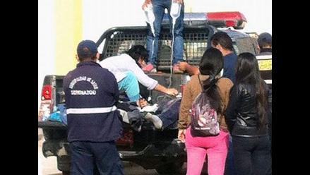 Huacho: tres heridos dejó choque de dos motos lineales con un tractor