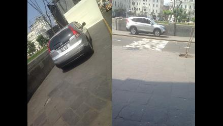 WhatsApp: camioneta se estaciona en plena Plaza San Martín