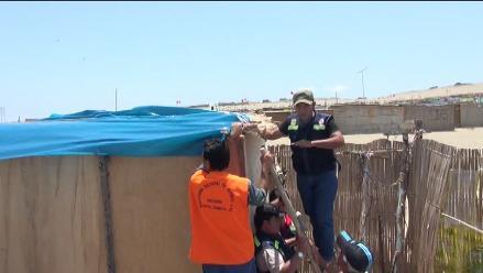 Entregan plásticos a familias de Nuevo Chimbote para afrontar el FEN