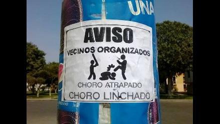 Trujillo: vecinos se organizan y amenazan con linchar a ladrones