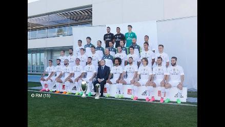Real Madrid: plantel 'merengue' se tomó la foto oficial del 2015
