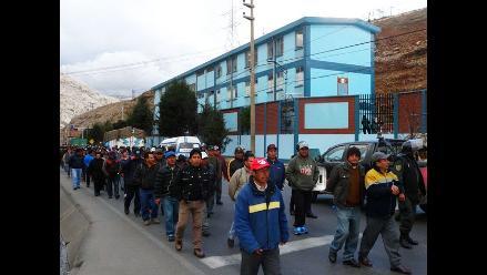 Pobladores que realizan marcha de sacrificio llegaron a La Oroya