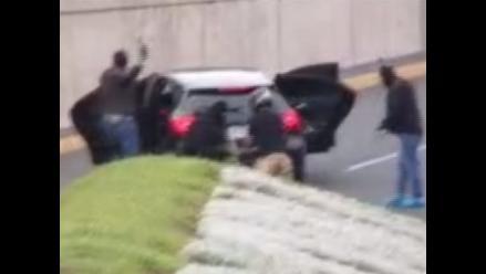 Captan impresionante asalto en plena Av. Javier Prado