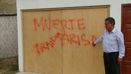 Samanco: aparecen pintas con amenazas de muerte contra alcalde