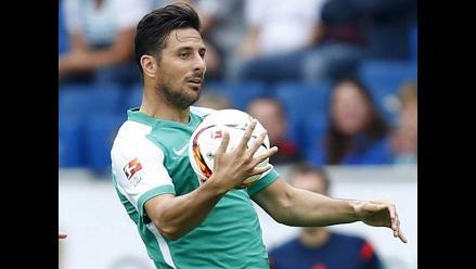 Claudio Pizarro en cancha: Werder Bremen perdió 2-1 con el Darmstadt