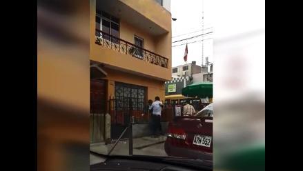 WhatsApp: sujetos se pelean frente a comisaría en SJL
