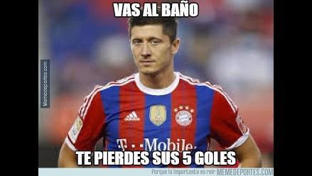 Bayern Munich: Robert Lewandowski provoca ola de memes tras anotar cinco goles