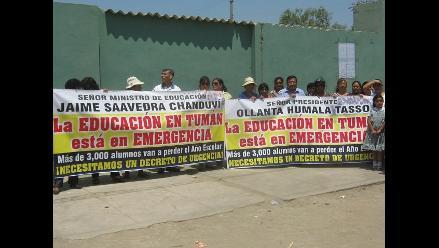Chiclayo: docentes de Tumán 4 meses impagos y retoman protestas