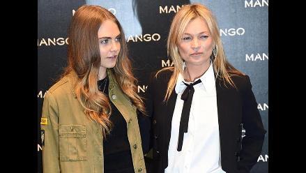 Kate Moss y Cara Delevingne desatan locura en Milán