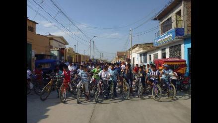 Lambayeque: incentivan uso de bicicleta en el día mundial sin autos