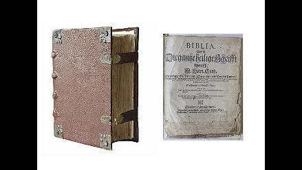 Alemania: hallan Biblia de Lutero de 1634 en un control policial