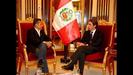 Ollanta Humala recibió en Palacio a expresidente de España José María Aznar