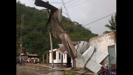Pasco: fuertes vientos afectaron a pobladores de Oxapampa